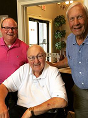 tim with mentors- David Housel and Pat Dye